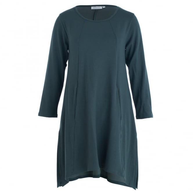 MASAI Gottis Sweat Zip Hem Side Tunic In Green