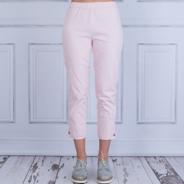 Paca Capri Pant With Button Ankle In Baby Pink