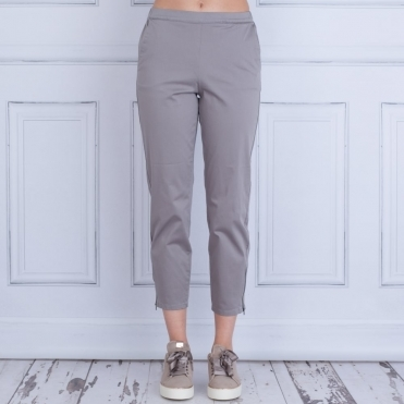Padme Cotton Pant With Zip Ankle In Dove