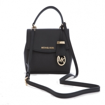 Ava Small Crossbody Handbag in Black