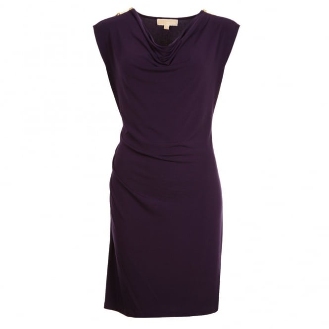 MICHAEL KORS Jersey Dress in Purple