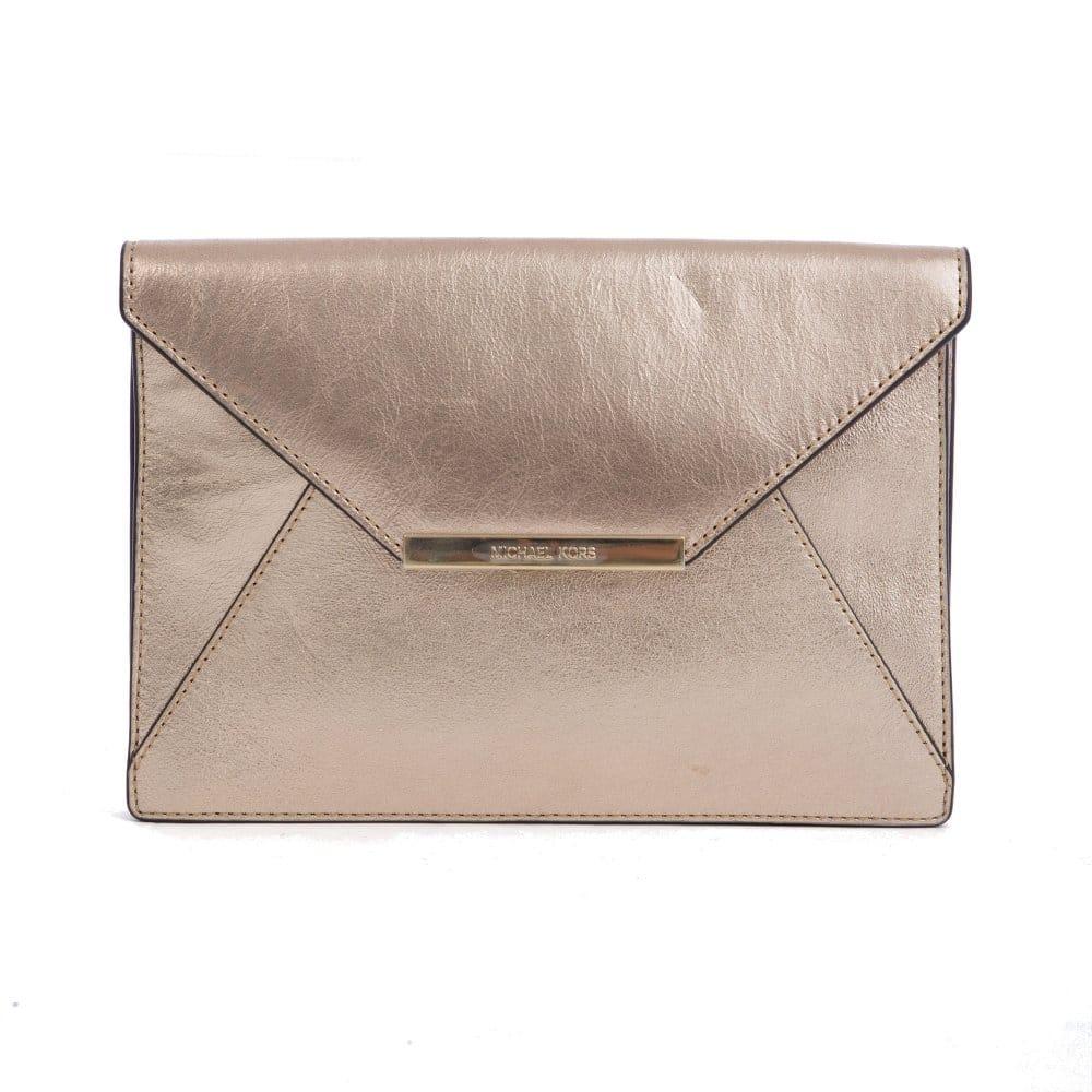 b46ea06d2507 Michael Kors Lana Envelope Clutch in Gold