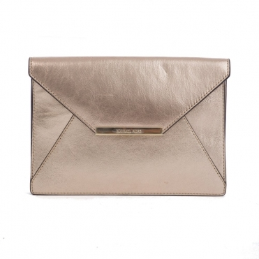 Lana Envelope Clutch Bag in Gold