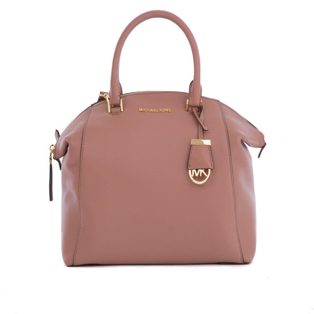 978e498bc1 123456789101112 Large Riley Satchel Bag in Dusty Rose Michael Kors Violet  Vivian Leather ...