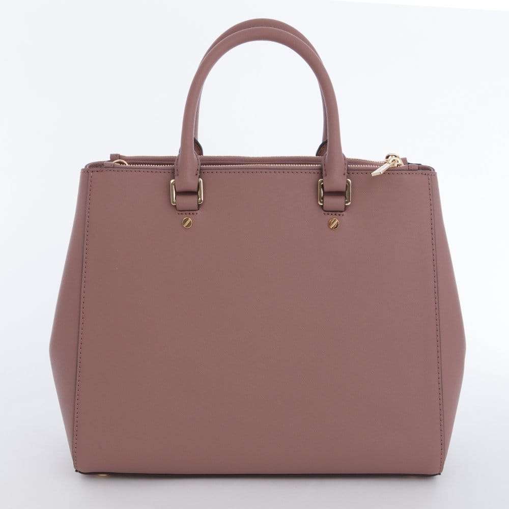 123b1484f8 Michael Kors Large Sutton Satchel handbag in Dusty Rose