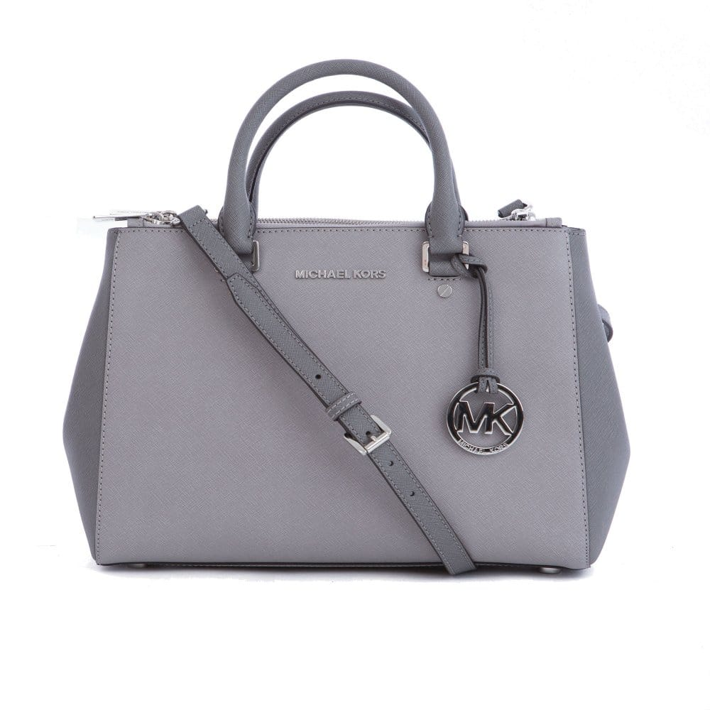 118bd79085 Michael Kors Medium Sutton Satchel in Two Tone Grey