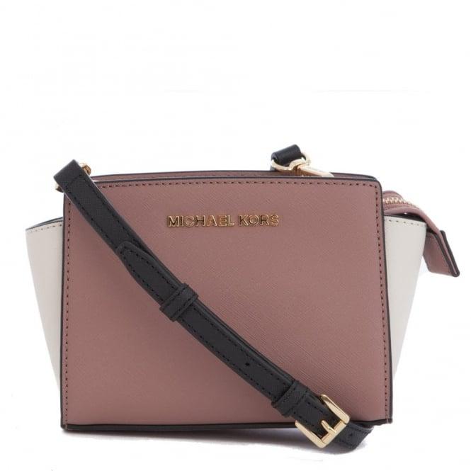 2e2d1329b2ce Michael Kors Selma Mini Saffiano Leather Messenger bag Blush & Black