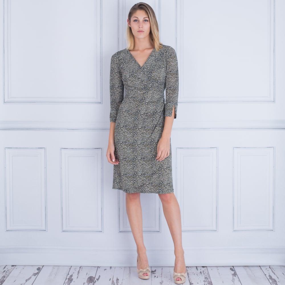 00123777 Onjenu Wrap Shirt Dress Fine Leopard Print In Leopard 597cb0147
