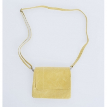 Remus Leather Crossbody Bag In Lemon