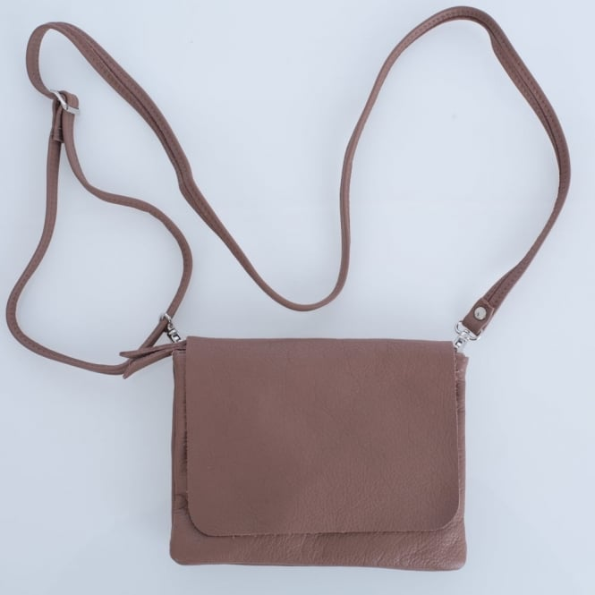 OWEN BARRY Remus Soft Leather Crossbody Bag In Hippo