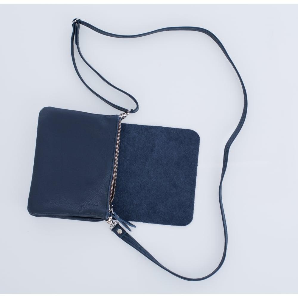 eb3170398152 Owen Barry Remus Soft Leather Crossbody Bag In Navy