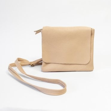 Remus Soft Leather Crossbody Bag In Nude
