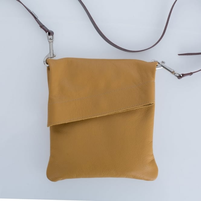OWEN BARRY Z Top Soft Leather Cross Body In Butterscotch