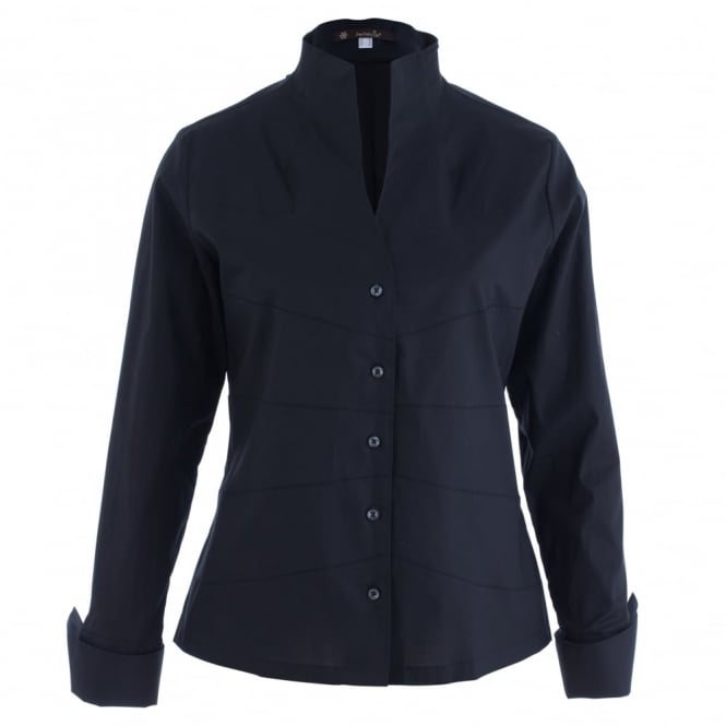 PERFEKCIJA Tulip High Neck Shirt In Black