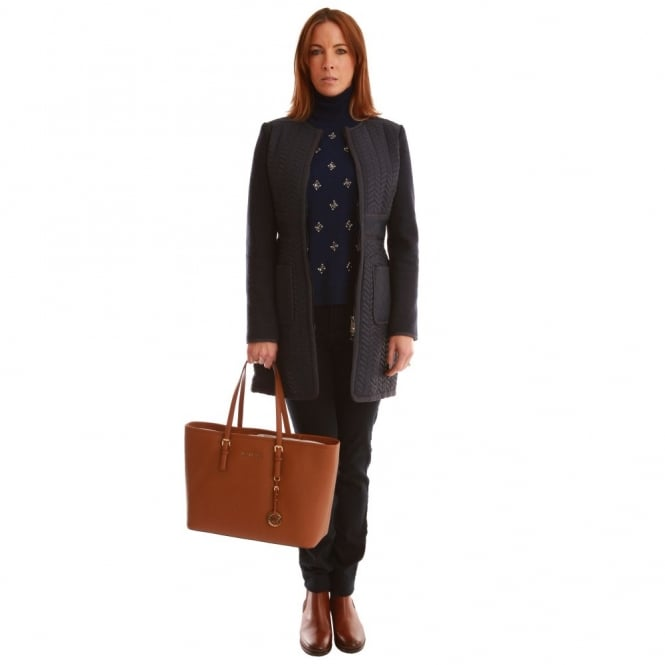 PINKO Quilted Coat in Blue