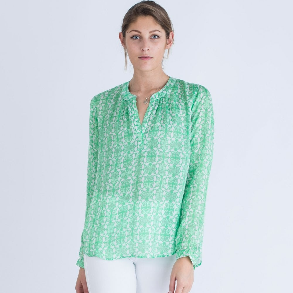 elegant and sturdy package sneakers for cheap enjoy lowest price Print Viscose Blouse Green