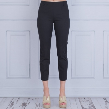 Cotton Pull On Pant In Black
