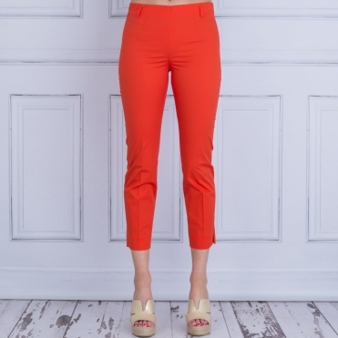 Cotton Pull On Pant In Orange