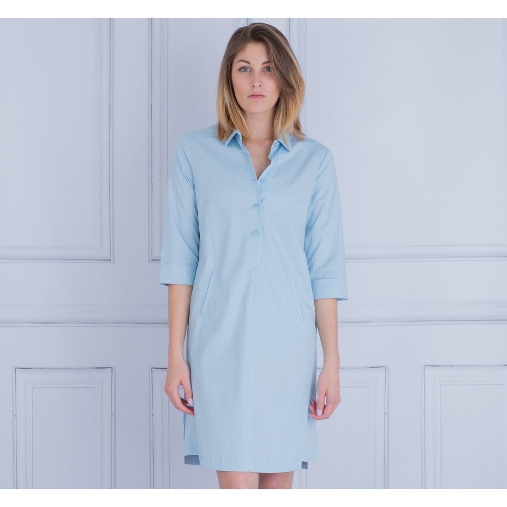 Riani 746820 2178 Cotton Shirt Dress In Light Blue