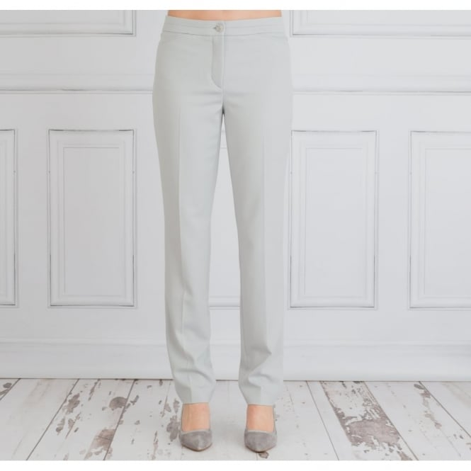RIANI Slim Fit Smart Trouser In Pearl Grey