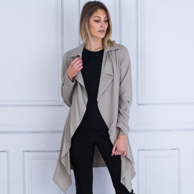 RINO & PELLE Coupro Waterfall Trench In Taupe