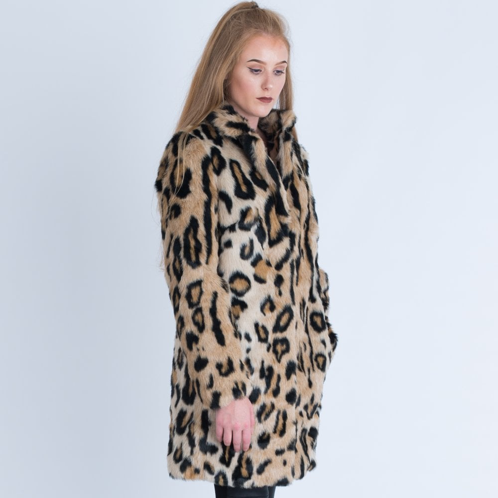 f4bb050ebd55 Rino & Pelle Leopard Print Faux Fur Coat Leopard TORAL.700W18
