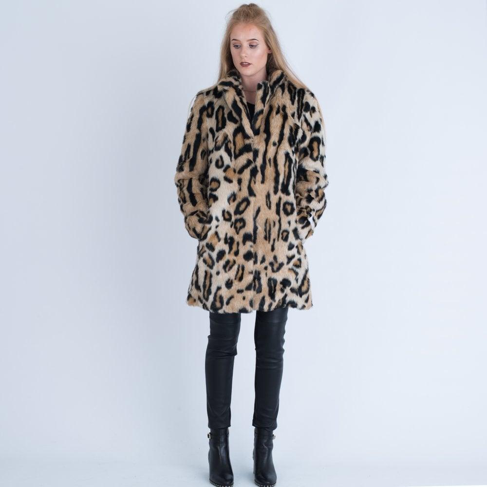 74f6b197727b Rino & Pelle Leopard Print Faux Fur Coat Leopard TORAL.700W18