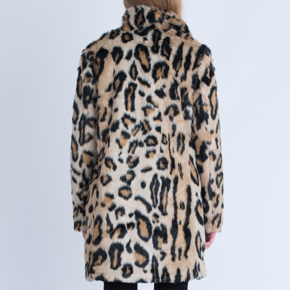 952f5b141 Leopard Print Faux Fur Coat Leopard