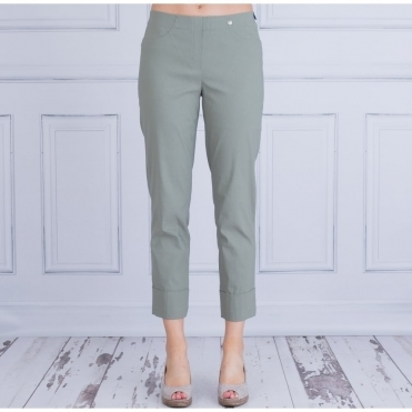 Bella 09 Turn Up Pull On Pant 68cm In Olive 51568 5499