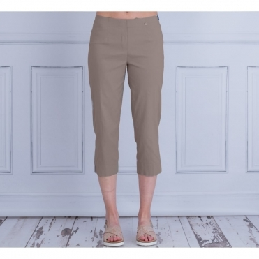 Marie 07 55cm Cropped Trouser In Dark Taupe 51576 5499