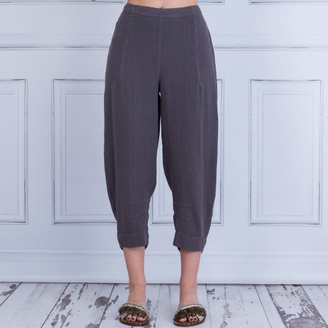 SAHARA Linen Trouser With Seamed Hem Coco