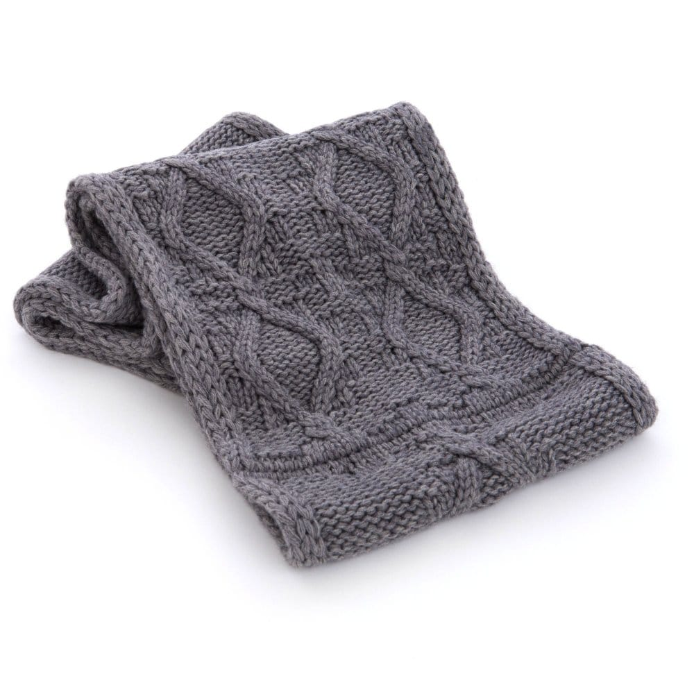 Seeberger Cable Knit Snood in Mid Grey
