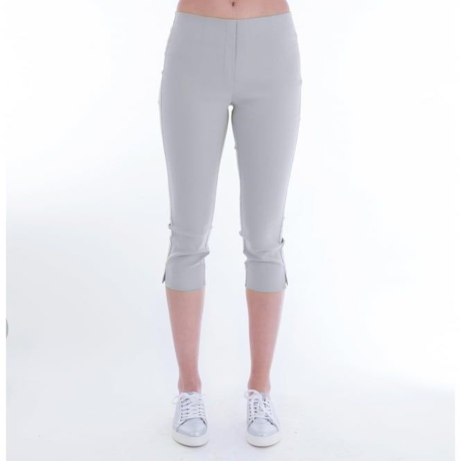 SIMCLAN 42 Cropped Pull On Pants In Silver Grey