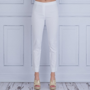 Classic Pull On Trouser In White 110