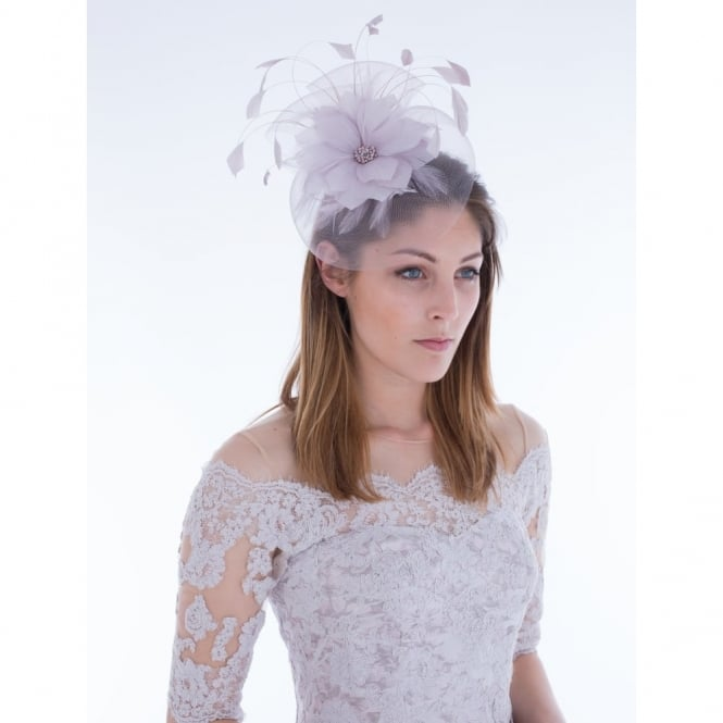 SNOXELLS Facinator With Feather Flower Detail In Lilac