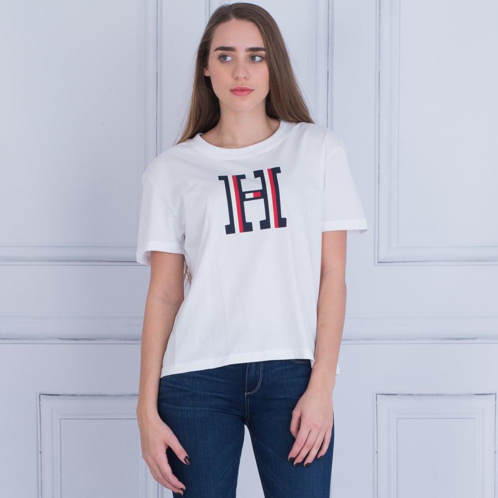 d723719d Tommy Hilfiger Brody H Logo T-Shirt White