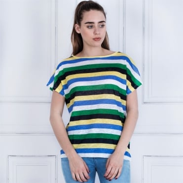 Tommy Hilfiger Cata Stripe T-shirt Green/yellow