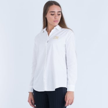 Tommy Hilfiger Girlfriend Fit Shirt White f35cecfce