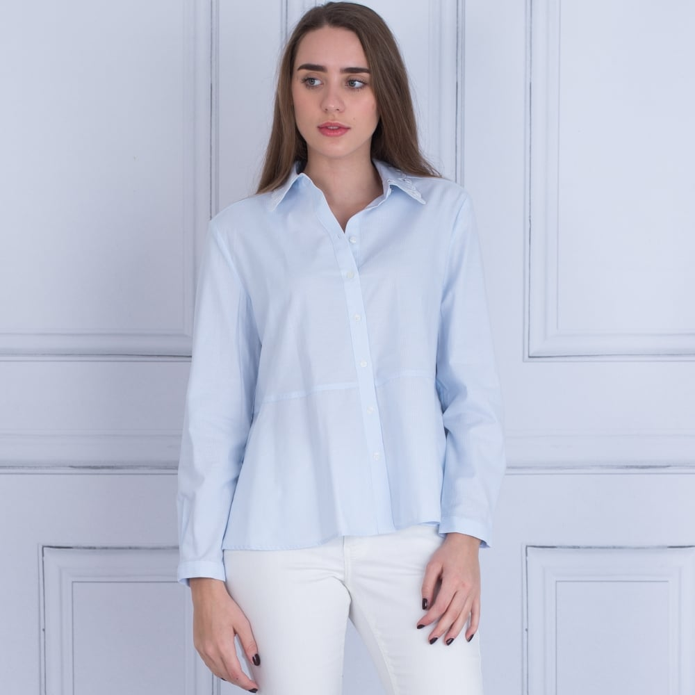 Tommy Hilfiger 21844904 Haven Embroidered Collar Shirt In Light Blue