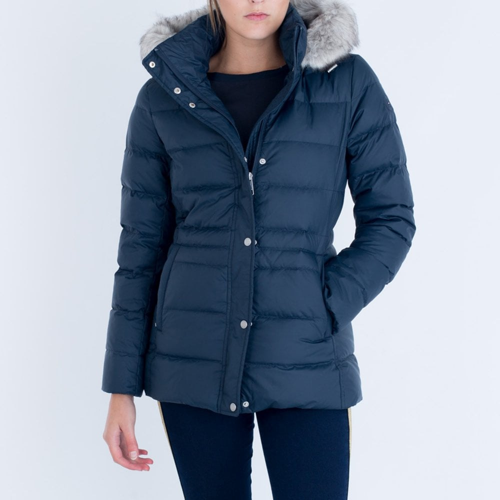 ec13911c Tommy Hilfiger Tyra Down Fitted Puffa Navy