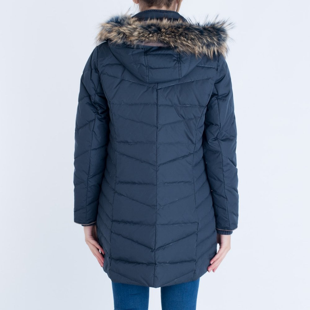 Tommy Hilfiger Tyra Down Fitted Puffa Navy 556dbb3af5