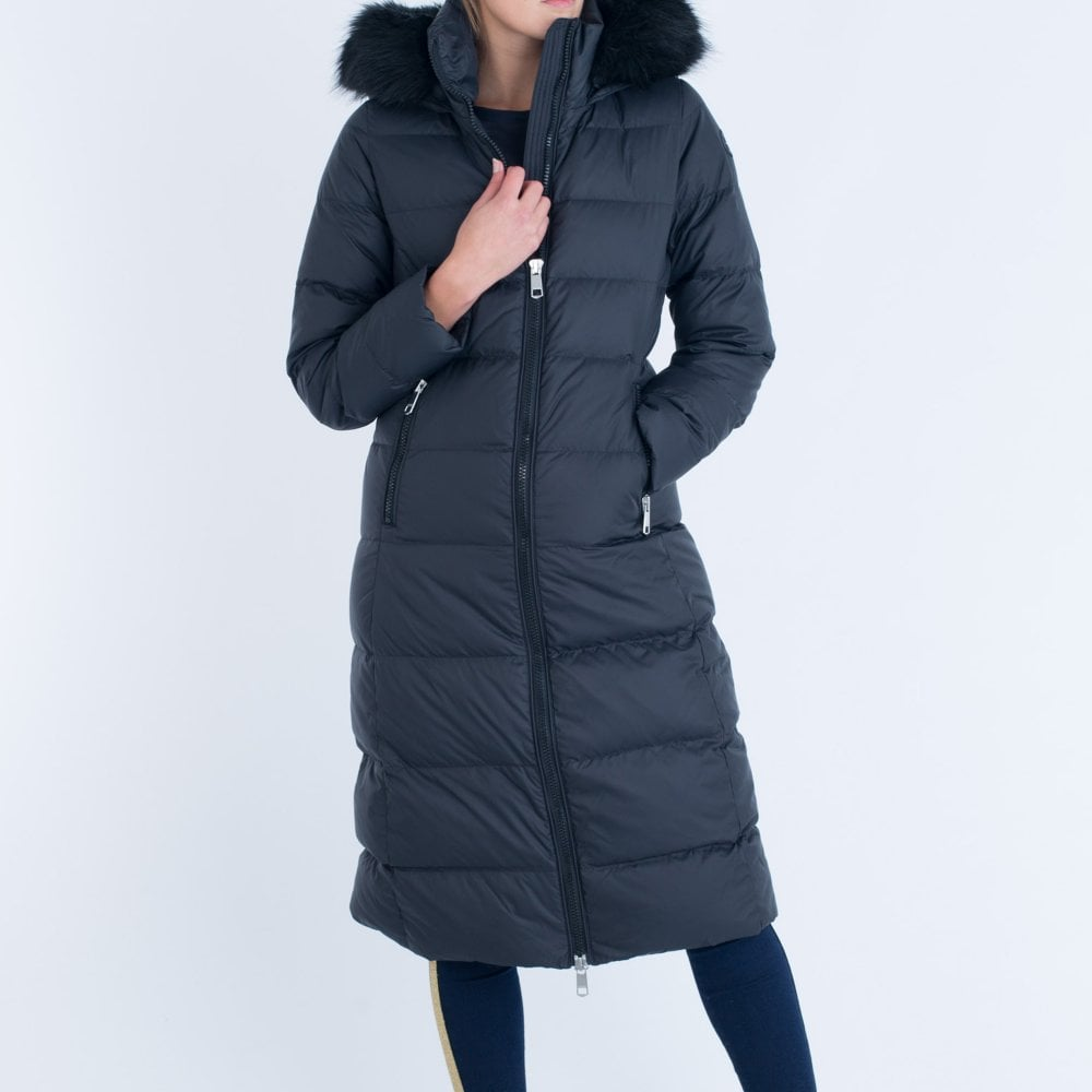 b162b785 Tommy Hilfiger Tyra Down Long Hooded Puffa Black