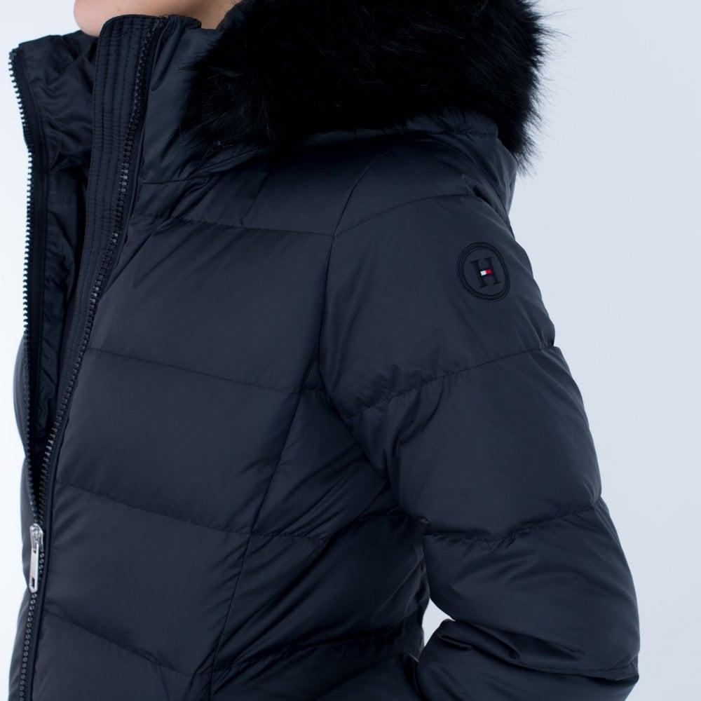 Tommy Hilfiger Tyra Down Long Hooded Puffa Black fcae938e45