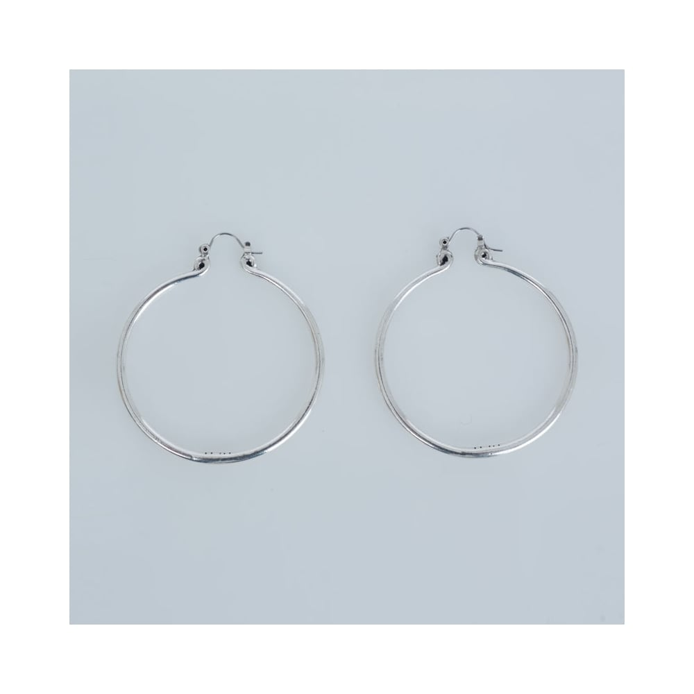 jewellery addiction eve hoop silver earrings inch sterling petite s