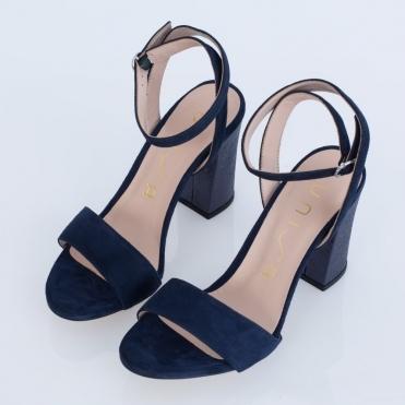 21d078912c99 Unisa Block Heel Ankle Strap Shoe Navy