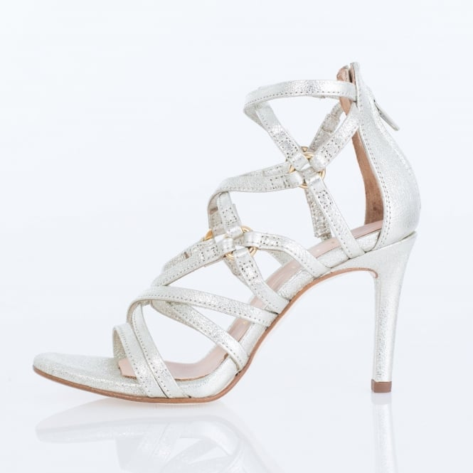 UNISA Cross Strap High Heel In Platino