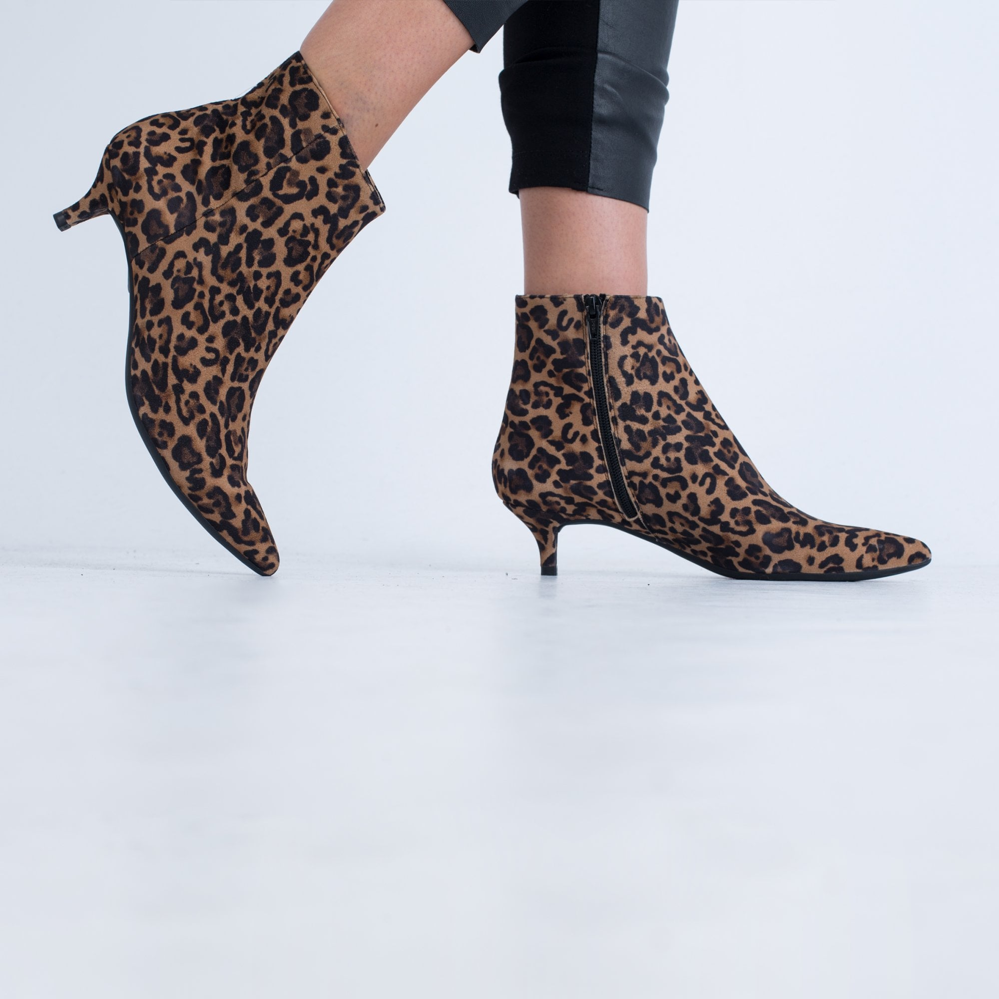Unisa Leopard Print Ankle Boot With Low