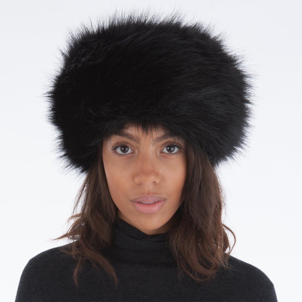 Whiteley Fischer Faux Fur Cossack Hat in Black 22299760675